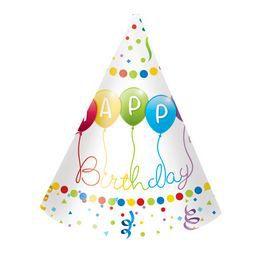 Happy Birthday Streamers - Szülinapi Parti Kalap - 6 db-os