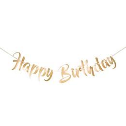 Boldog Szülinapot - Happy Birthday Arany Parti Betűfüzér