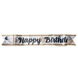 Happy Birthday Feliratú Elegáns Vállszalag