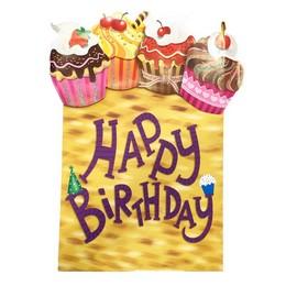 Happy Birthday Feliratú Muffin Mintás Óriás Ajándéktasak