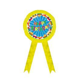 Happy Birthday Feliratú Szülinapi Sárga Szalagos Óriás Függő Dekoráció - 1 db-os, 32