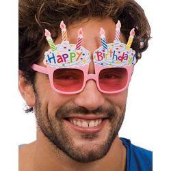 Happy Birthday Feliratú Szülinapi Torta Szemüveg