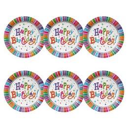 Happy Birthday! Radiant Szülinapi Parti Papír Tányér
