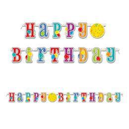 Happy Birthday Lufis Szülinapi Party Banner - 213 cm