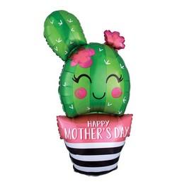 Anyák Napi Kaktusz Héliumos Fólia Lufi, 88 cm