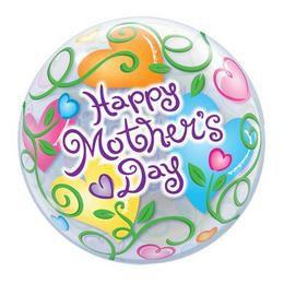 22 inch-es Happy Mother's Day Anyák Napi Héliumos Bubble Lufi