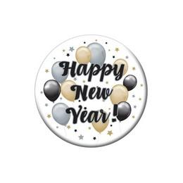 Happy New Year! Elegáns Léggömbös Szilveszteri Kitűző