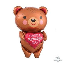 Happy Valentine Day Bear Super Shape Lufi
