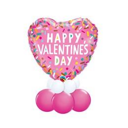 Happy Valentine's Day - Valentin-napi Asztali Lufidísz