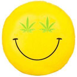 HappyFace Emoji Párna Cannabis - 30 cm