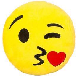 HappyFace Emoji Párna Csókos - 30 cm