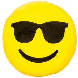 HappyFace Emoji Párna Napszemcsis - 30 cm