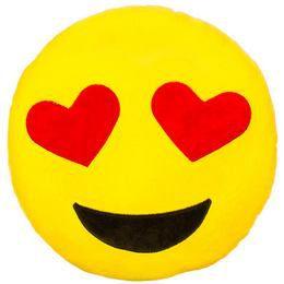 HappyFace Emoji Párna Szerelmes - 30 cm