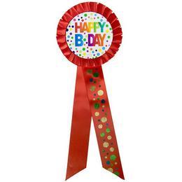 Hatalmas Happy Bday - Szülinapi Szalagos Kitűző