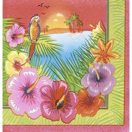Hawaii Luau Parti Szalvéta - 33 cm x 33 cm, 16 db-os