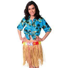 Hawaii Parti Natúr Fűszoknya - 45 cm