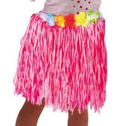 Hawaii Parti Rózsaszín Fűszoknya Gyerekeknek - 30 cm