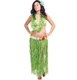 Hawaii Parti Zöld Fűszoknya - 80 cm