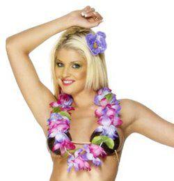 Lila és Pink Hawaii Nyakfüzér