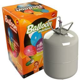 Eldobható Hélium Palack 30 db Latex Léggömb Felfújásához