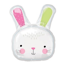 Hello Bunny - Nyuszifej Super Shape Fólia Lufi Húsvétre