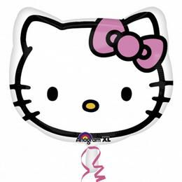 15 inch-es Hello Kitty Head Héliumos Fólia Lufi