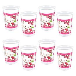 Hello Kitty Hearts - Szíves Parti Pohár - 200 ml, 8 db-os