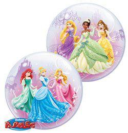 22 inch-es Disney Princess Royal Debut Hercegnős Bubble Héliumos Lufi