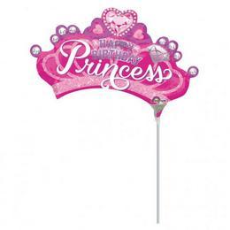 Princess Crown - Hercegnő Korona Szülinapi Mini Shape Fólia Lufi