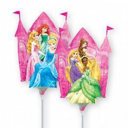 Hercegnők - Disney Princess Castle - Mini Shape Fólia Lufi Pálcán