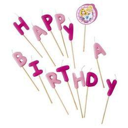 Hercegnők Happy Birthday Gyertya Szett