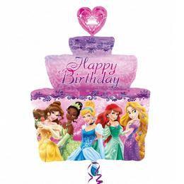 Princesses - Hercegnők Torta Alakú Super Shape Héliumos Lufi