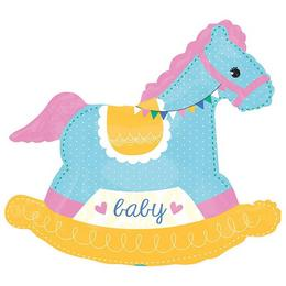29 inch-es Baby Shower Rocking Horse - Hintaló Super Shape Fólia Lufi