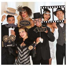 Hollywood Parti Kellékek Pálcán Fotózáshoz - 12 db-os