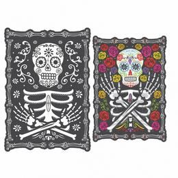 Hologramos Black & Bone Karton Dekoráció Halloweenre