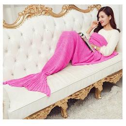 Kényelmes Meleg Pink Sellő Takaró - 180 cm x 90 cm