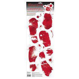 Véres Csontváz Lábnyomok Halloweenre