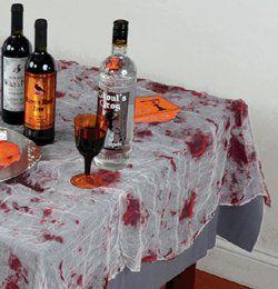 Véres Hatású Géz Asztalterítő