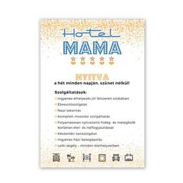 Hotel Mama Ajándék Tábla