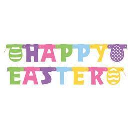 Happy Easter Feliratú Betűfüzér Húsvétra - 1,43 m