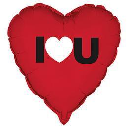 18 inch-es I Heart You Szerelmes Héliumos Fólia Lufi
