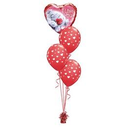 I Love You Maci Mintás Valentin-napi Léggömbcsokor