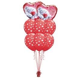 I Love You Maci Mintás Valentin-napi Prémium Léggömbcsokor