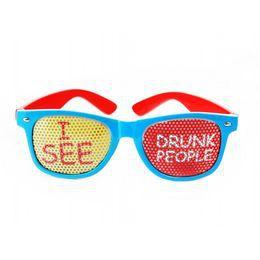 Piros-Kék - I See Drunk People - Feliratos Parti Szemüveg