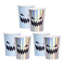Holografikus Rémisztő Tökfej Mintás Pohár Halloween-re