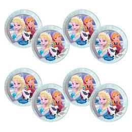 Jégvarázs - Frozen Elsa & Anna & Olaf Parti Tányér - 23 cm, 8 db-os