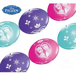 Jégvarázs - Frozen Party Banner Quick Link Lufi Füzér, 10 db-os