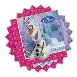 Frozen - Jégvarázs Olaf Parti Szalvéta - 33 cm x 33 cm, 20 db-os