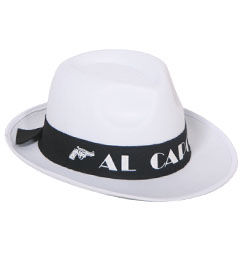 Al Capone Fehér Parti Kalap