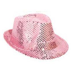 Flitteres Rózsaszín Parti Kalap